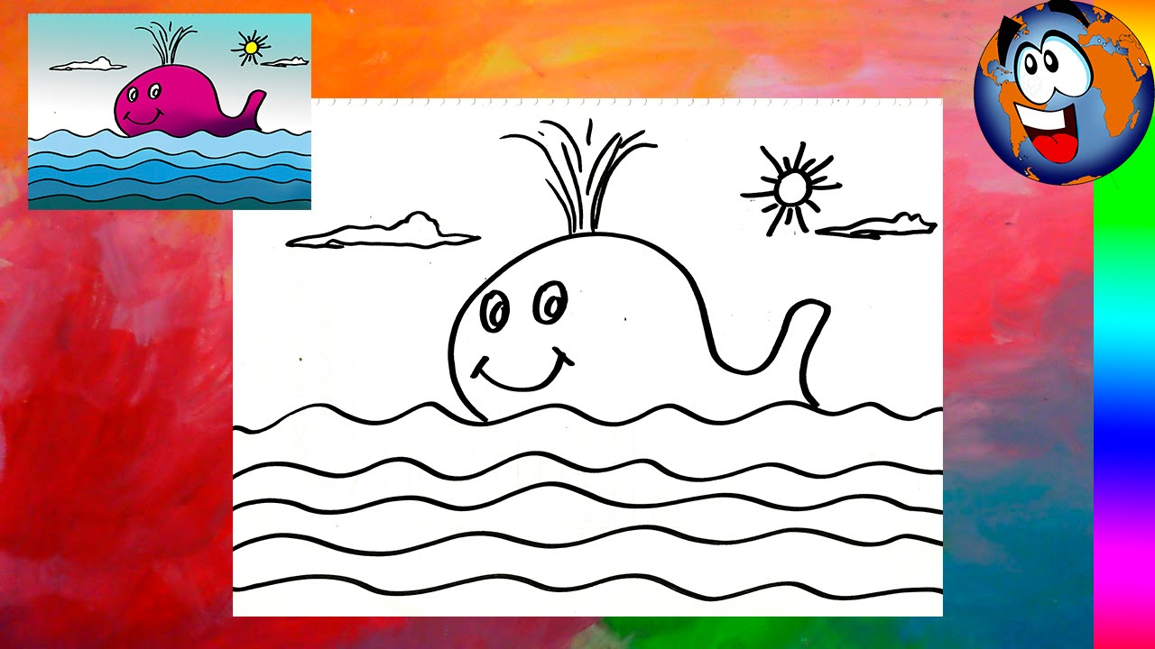Ballena Fucsia Dibujo Fácil para Niños Whale Drawing - YouTube