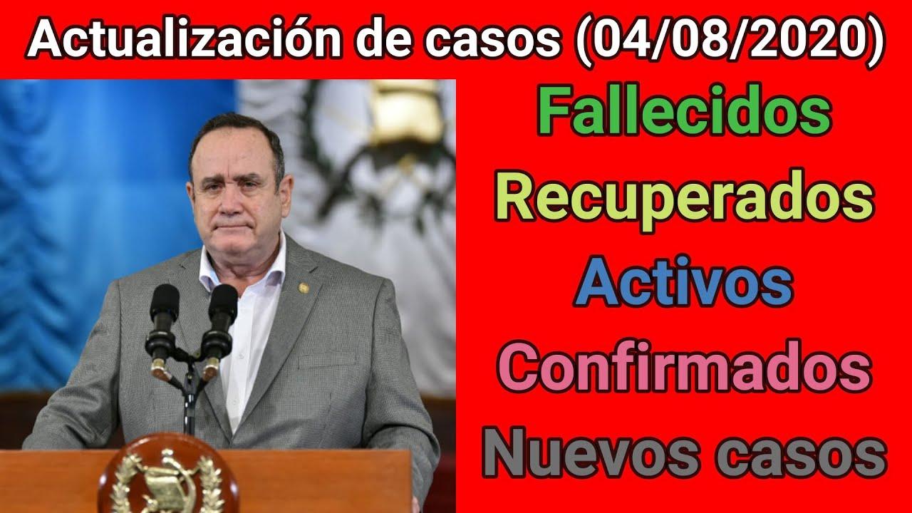 😷 Actualización de casos diarios del MSPAS (04/08/2020) - por MOVIMIENTO GT