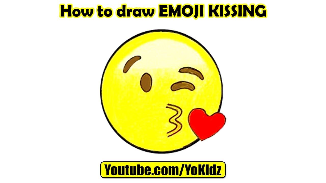 How To Draw Emojis Blowing A Kiss Emoji Youtube