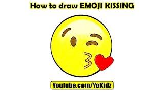 How to draw EMOJI KISSING with YoKidz