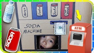 SODA Machine Turn Into ATM Machine Kids Pretend Play!
