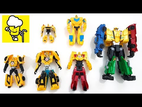 Transformer Robots in Disguise Toys Stop Motion with Combiner Force Ultra Bee Bumblebee