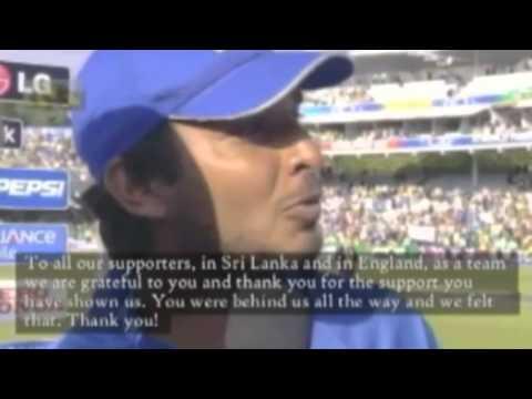Sangakkara Speaking Sinhalese World Cup 2015