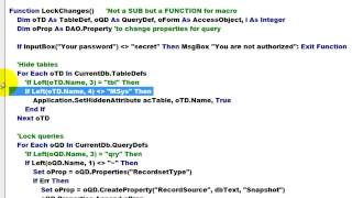 Protecting Your Access Database with VBA