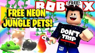 Come ottenere un PET NEON JUNGLE GRATUITO in Adopt Me NEW Jungle Update! (Roblox)