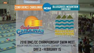 2018 Bluegrass Mountain Conference / Conference Carolinas Championship Swim Meet (Day 2)
