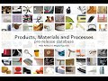 Products, Materials and Processes database