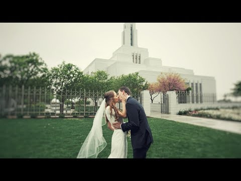 Mary & Justin Draper Utah Temple Wedding Video in 4k