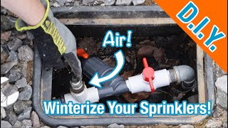 How To Winterize Your Sprinklers (Sprinkler Blow Out With Air!)