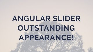 Angular Slider - Outstanding Appearance! thumbnail