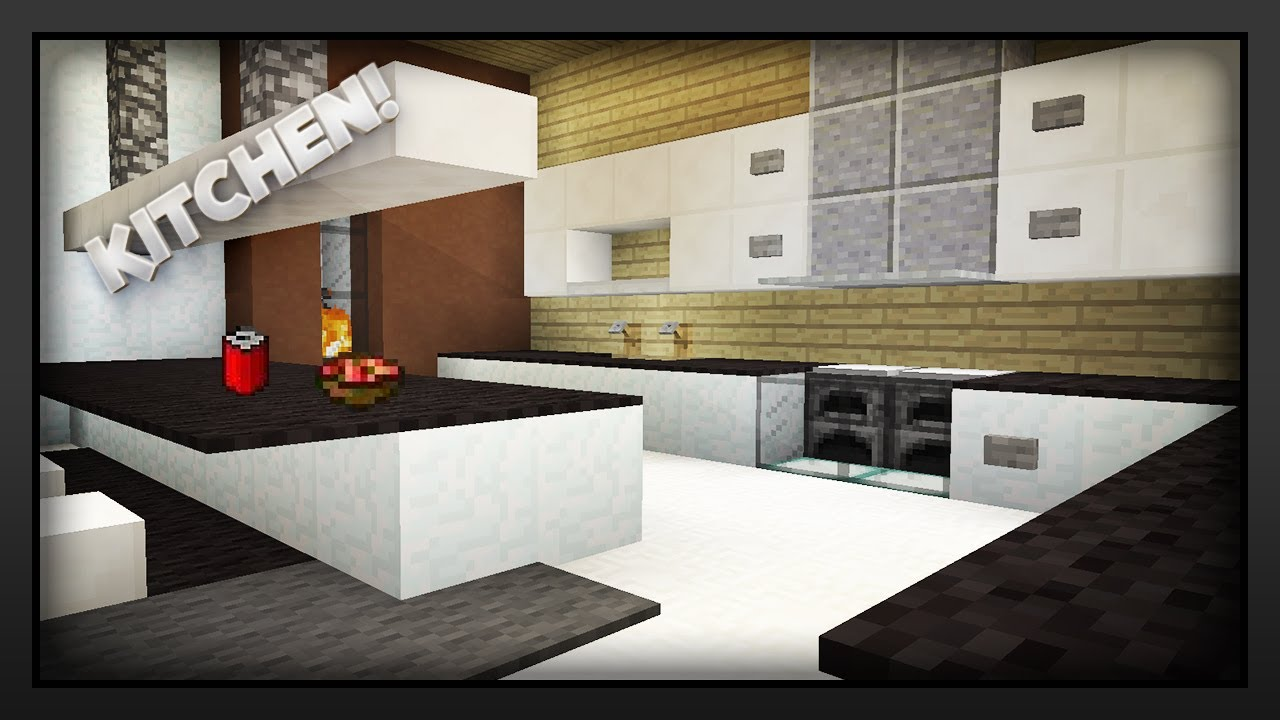 Minecraft How To Make A Kitchen Youtube
