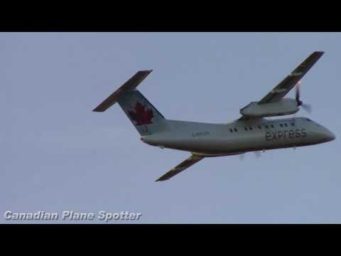 Early Rotation! Air Canada Express Dash-8 Takeoff from Ottawa Int'l Airport