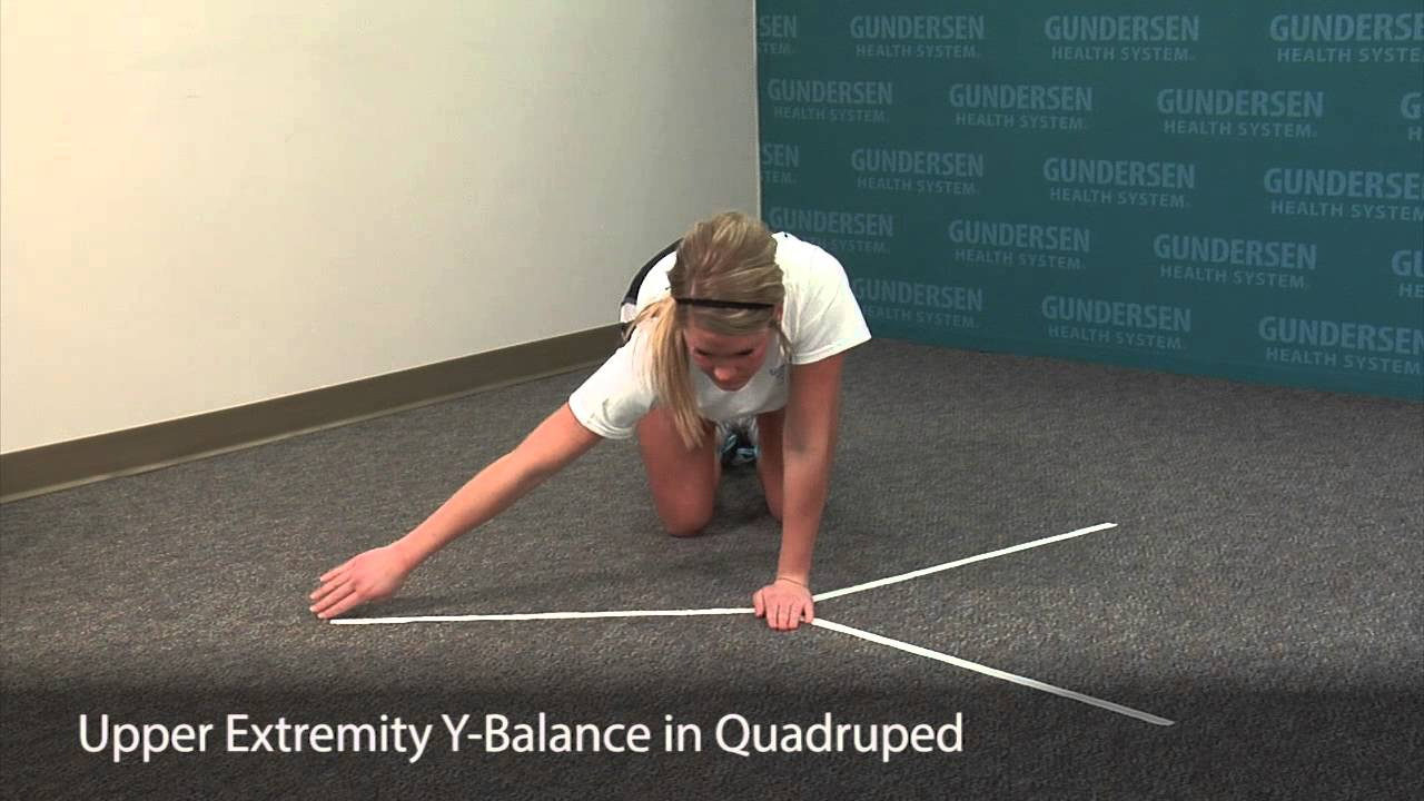 Upper Extremity Y Balance - YouTube