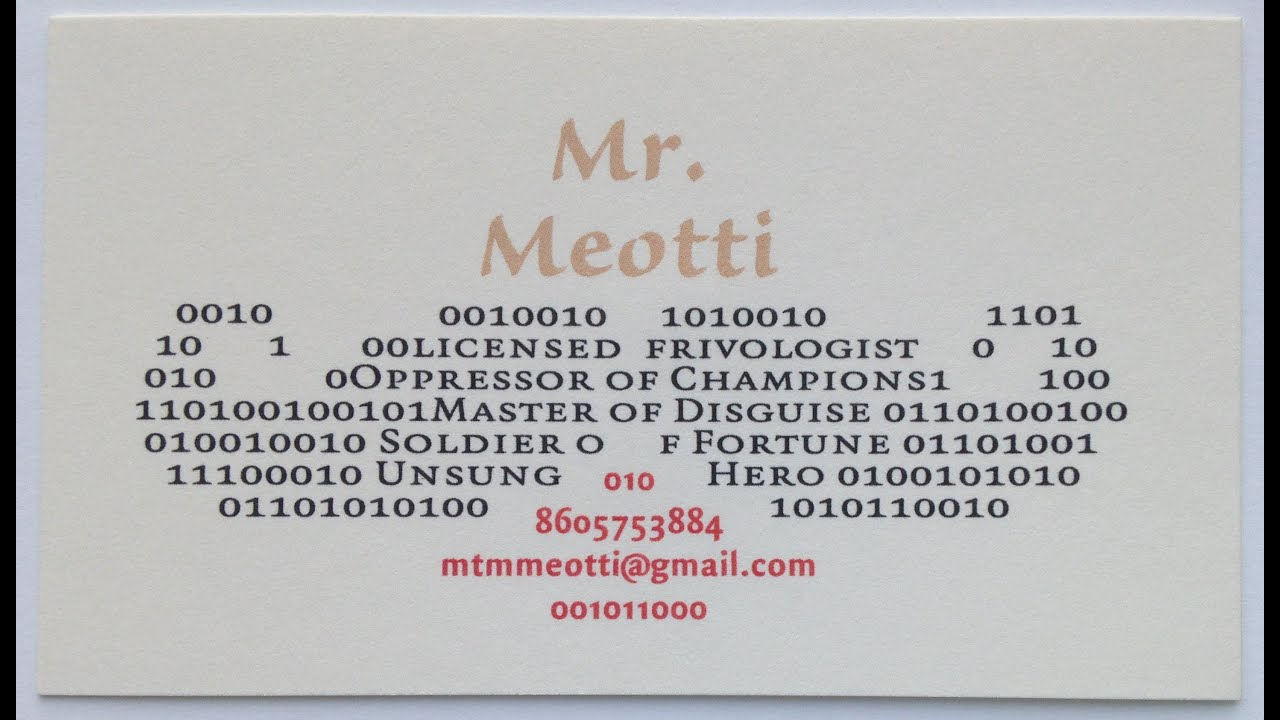 30 FUNNY BUSINESS CARDS - YouTube