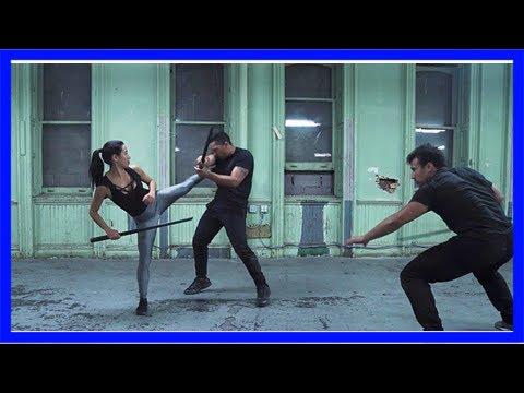 Watch 'the hunger games' stuntwoman tara macken sword fight like a total boss