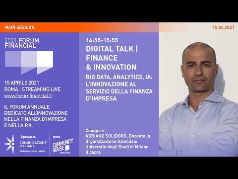 Financial Forum 2021 | Digital Talk Finance & Innovation BIG DATA, ANALYTICS, IA