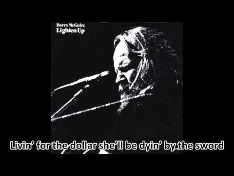 Barry McGuire - Don't Blame God (With Lyrics)