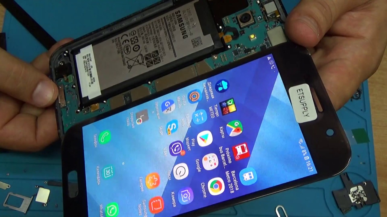 Samsung Galaxy A7 (2017) (A720F)  lcd replacement
