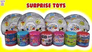 Mashems Fashems Disney Tsum Series 12 Blind Bags Opening Toy Surprises Fun Review PJ MASKS MLP