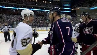 Penguins Mic'd up in the Handshake Line
