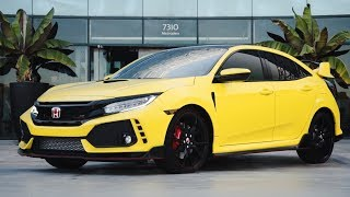 2017 HONDA CIVIC TYPE R WRAPPED SATIN YELLOW!!! SD WRAP
