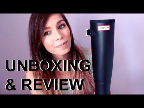 Hunter Boots Unboxing & Try On