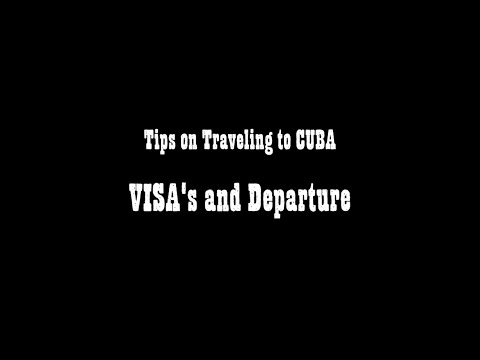 how to get a visa for cuba