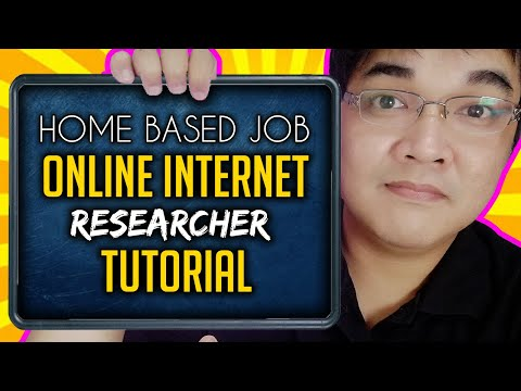 Online Internet Researcher Legit Online Part Time Jobs At Home Philippines For Beginners