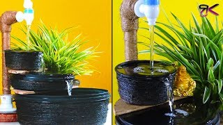 Beautiful tabletop fountain with container   DIY home decoration  