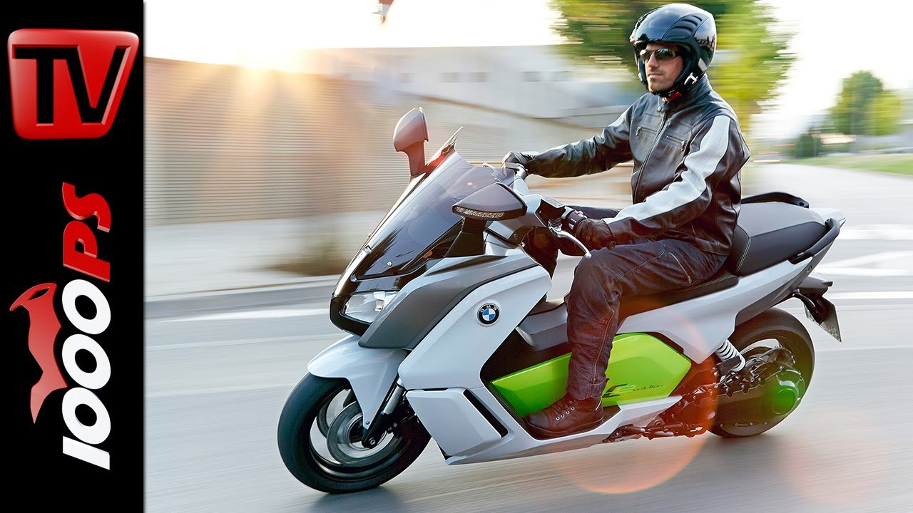 test video bmw c evolution 2014 elektro scooter im. Black Bedroom Furniture Sets. Home Design Ideas