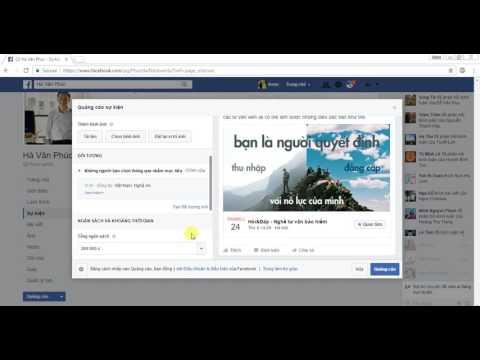 Cách quảng cáo sự kiện trên Facebook Page