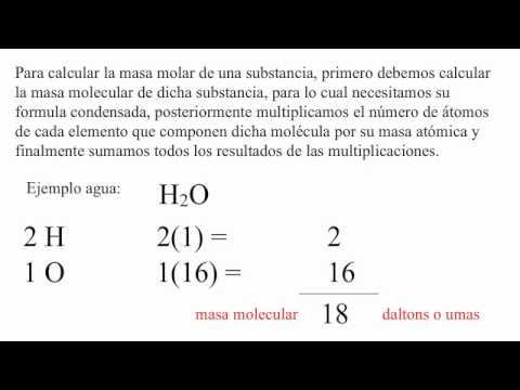 Cómo calcular la masa molar del agua? - YouTube