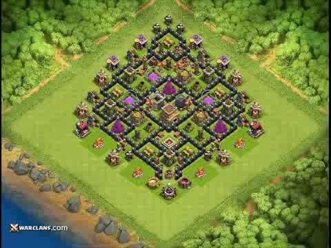 Base Coc Th8 Base Th 8 Unik 5