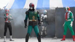 2016年5月7日に行われた、いわゆる『昭和ライダー』である「仮面ライダー1号・V3・RX」のキャラクターショーです。