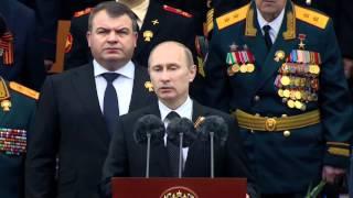 В.Путин.Военный парад,67-я годовщина Победы.09.05.12