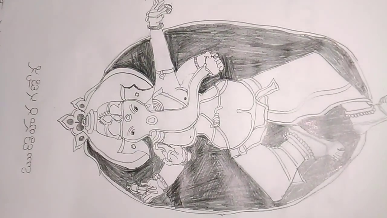 Ganesh image pencil drawing images slides