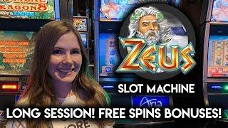 Original ZEUS Slot Machine! Long Session! Catching the BONUSES!!