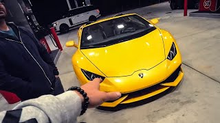 TRADING UP FOR A LAMBORGHINI SPYDER...
