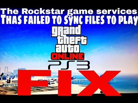 How To Fix: The Rockstar game services has failed to sync files to play GTA Online - FOR PS3
