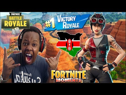 MY FIRST SOLO VICTORY ROYALE IN FORTNITE FROM KENYA!!!