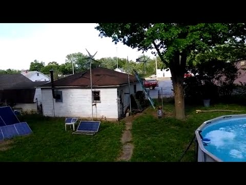2 Wind Generators, 20 Solar Panels, and a Solar Pool Heater
