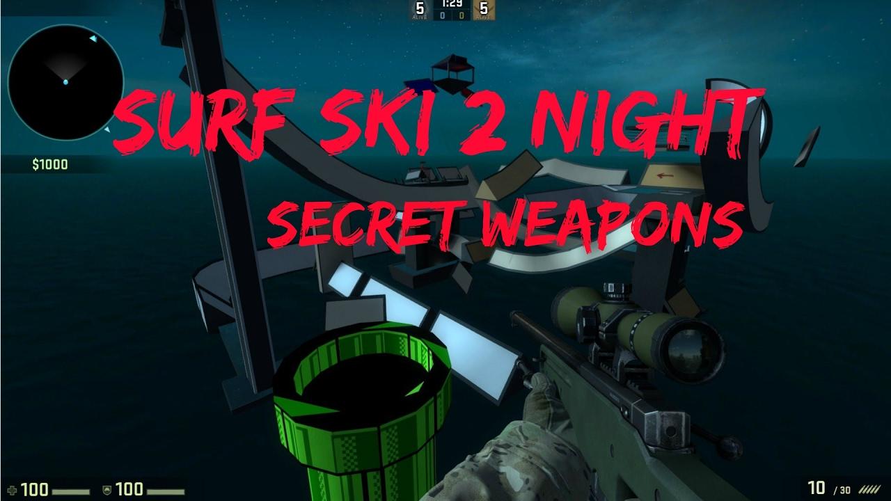 Csgo Surf Secret Weapons Mario Room Surf Ski 2 Night Youtube
