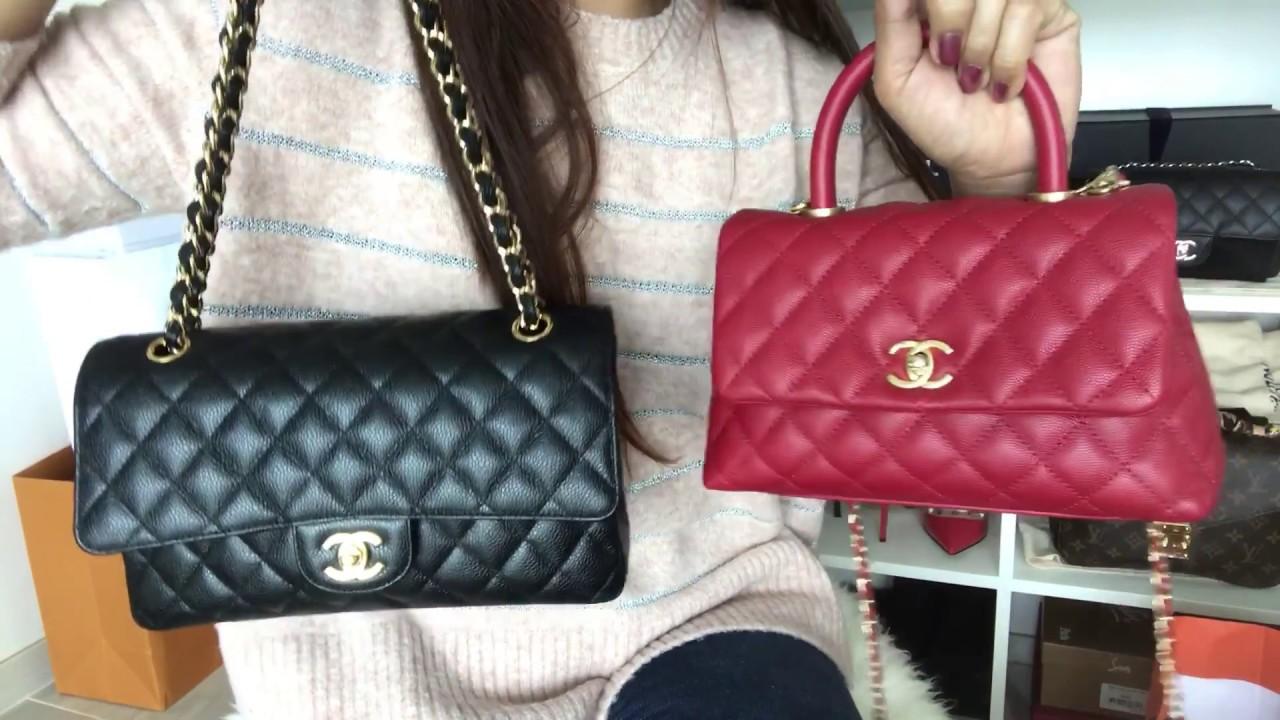 Chanel coco handle mini comparison video part 2 - YouTube 5518177825