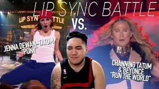 Channing Tatum & Beyonce vs. Jenna Dewan-Tatum (Lip Sync Battle) REACTION!!!