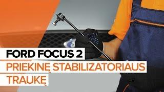 Kaip pakeisti priekinę stabilizatoriaus traukę FORD FOCUS 2 [PAMOKA]