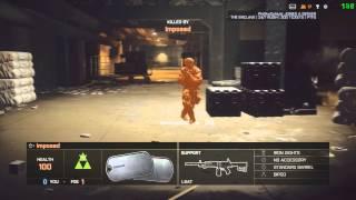 Battlefield 4 Level 110 Gameplay Lockers Domination Aek 27-3 42% accy