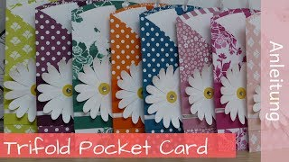 Trifold Pocket Card - Stampin' Up! Demonstratorin - YouTube
