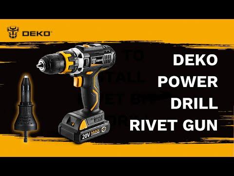 DEKO Power Drill  Rivet Gun VS Manual Hand Riveter