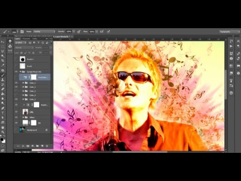 Tutorial : how to use Music Notes Photoshop Action V2