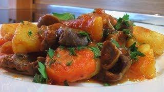 Рагу из потрохов видео рецепт.Книга о вкусной и здоровой пище